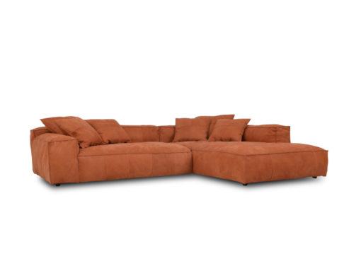 Sofa Egma mit orangenem Bezug