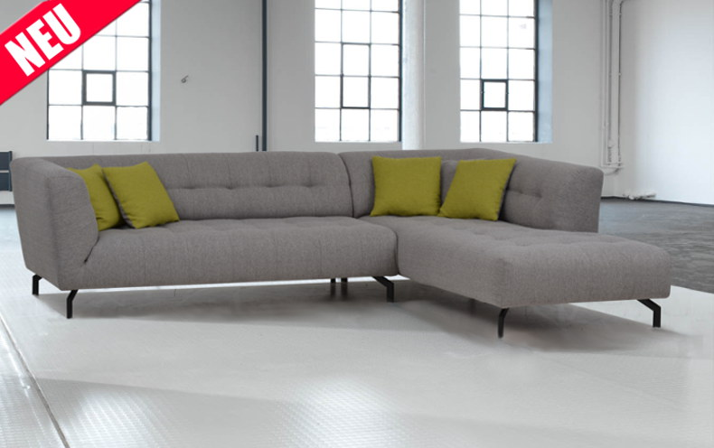 neues Sofa Bilbao mit grauem Bezug