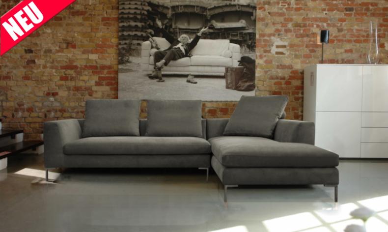 neues Sofa Zaragossa mit grauem Bezug