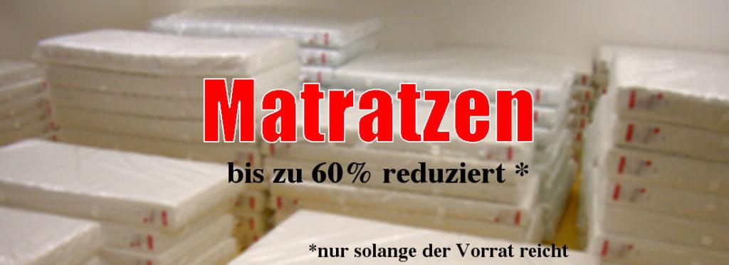 Matratzen bis zu 60 % reduziert